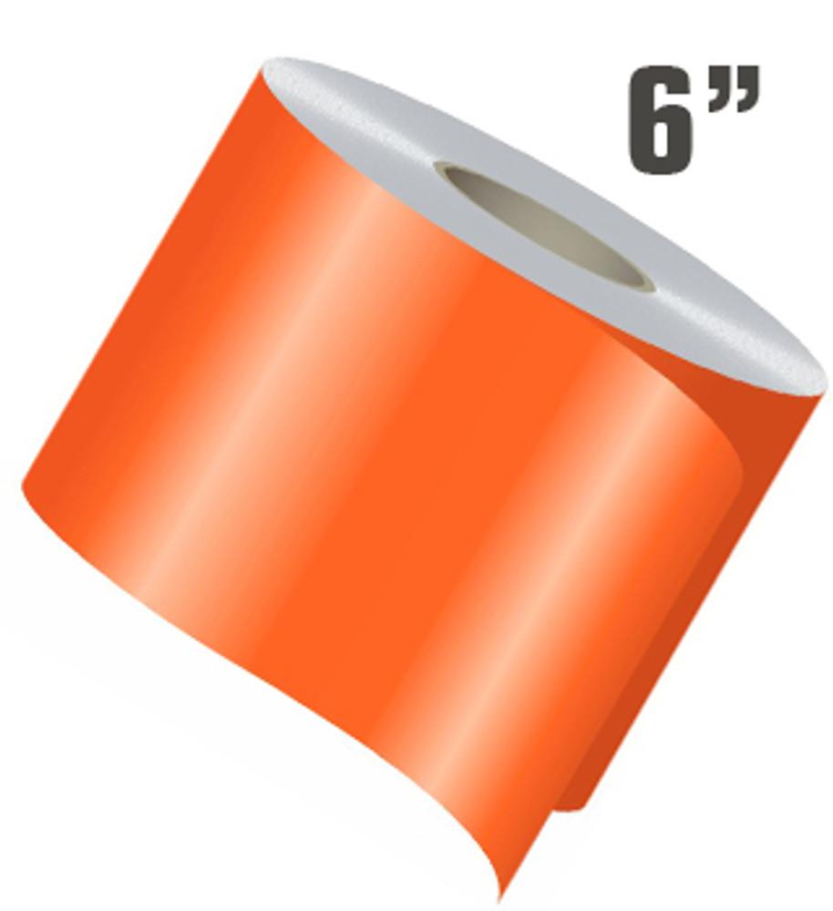 "6"" Wide Single Line Single Color Vinyl Stripe Roll"