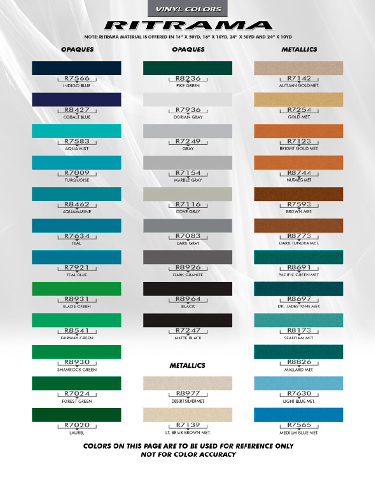 Ritrama Color Chart Page 2