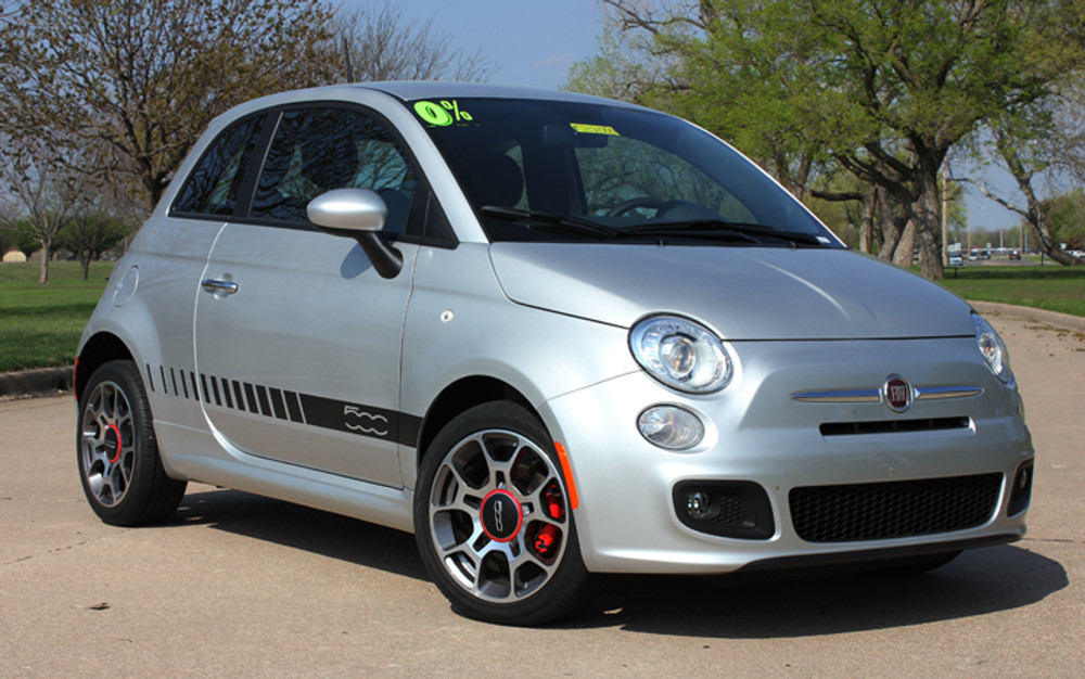 2011-2016 Fiat 500 Rocker Strobe Stripe Vinyl Graphic Kit
