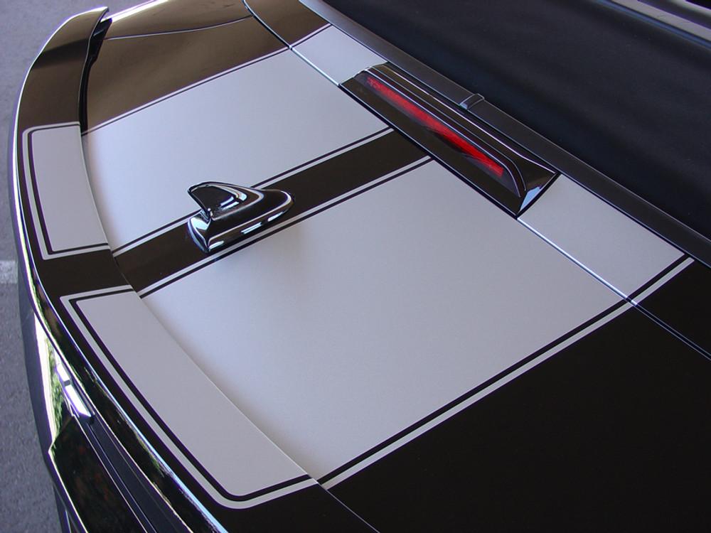 2009-2013 Chevrolet Camaro R-Sport Hood & Trunk Stripes Rally Kit (Convertible)