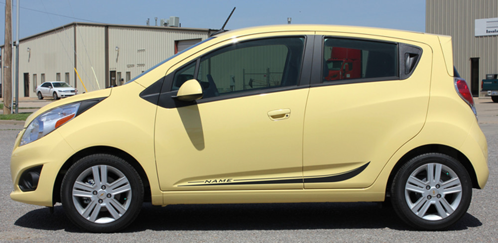 Chevy Spark Arc Vinyl Side Stripes Graphic Kit Side View