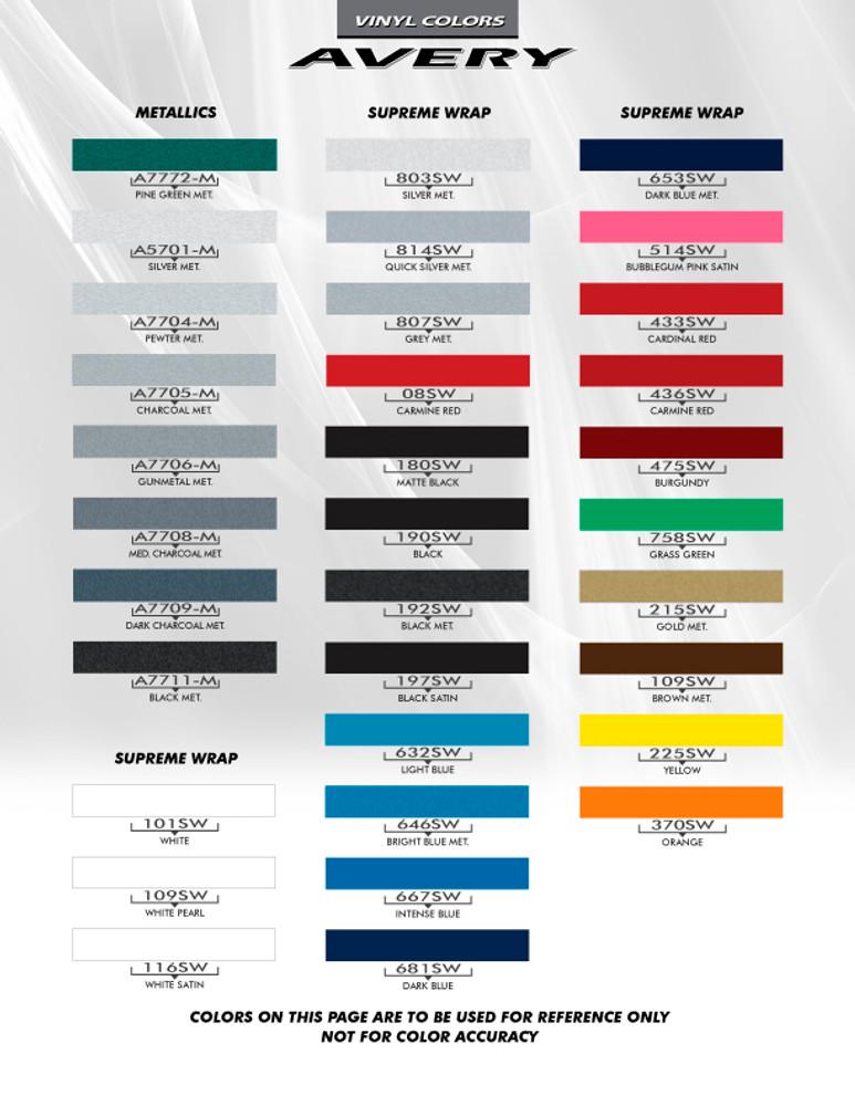 2014-2017 Jeep Cherokee Warrior Vinyl Graphics Kit