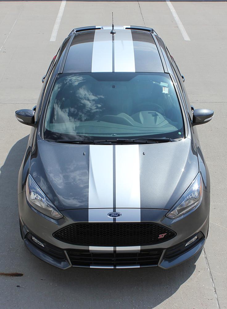2015-2018 Ford Focus Target Rally Stripe Kit