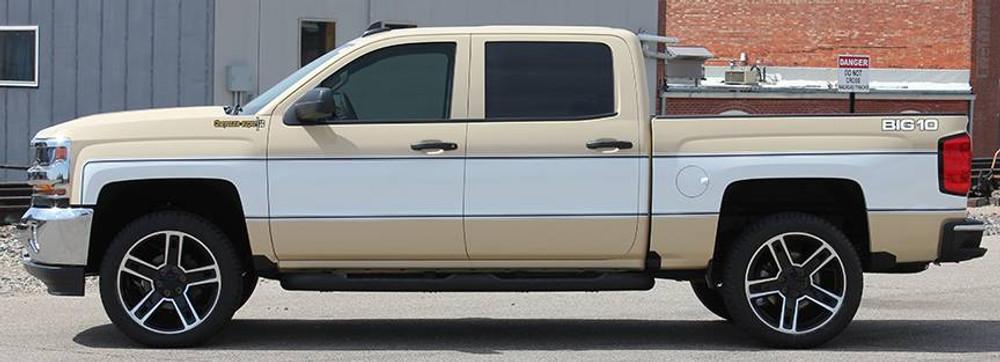 2014-2019 Chevy Silverado Retro Cheyenne Graphic Kit Side View