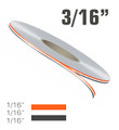 """3/16"""" Wide Double Line Two Color Vinyl Pinstripe Roll"""