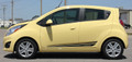 Chevy Spark Flash Vinyl Side Stripes Graphic Kit Side View