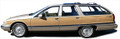 91-96 Buick Roadmaster Wagon Burma Teak Digital Reproduction Wood Grain Replacement Kit