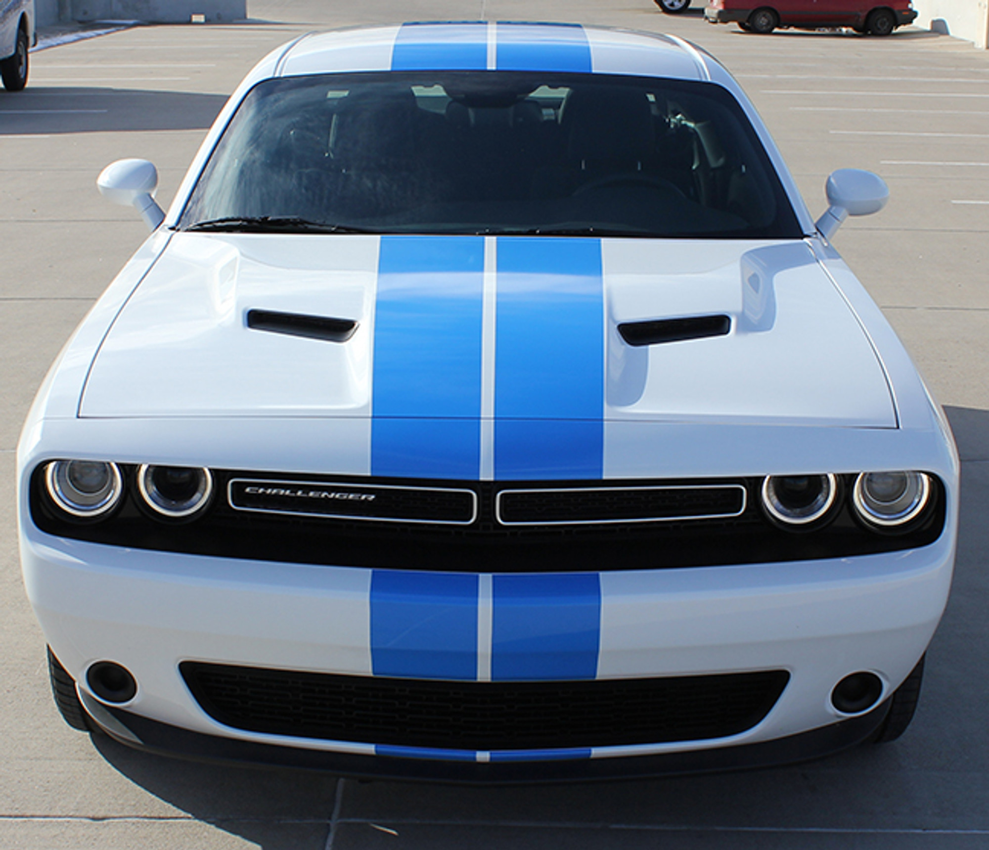Dodge Challenger Rally Racing Stripes Car Decals
