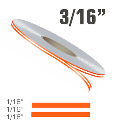 "3/16"" x 150' Double Line Single Color Vinyl Pinstripe Roll"