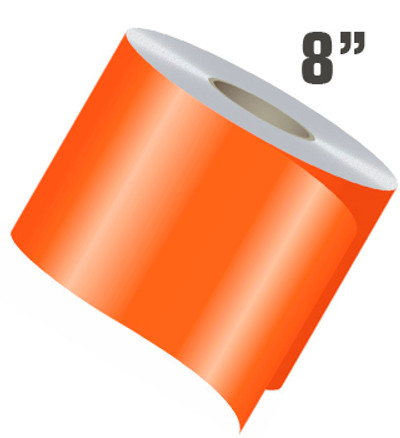 "8"" Wide Single Line Single Color Vinyl Stripe Roll"