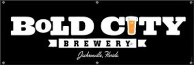 "Bold City Brewery 72"" X 24"" Black Logo Banner"