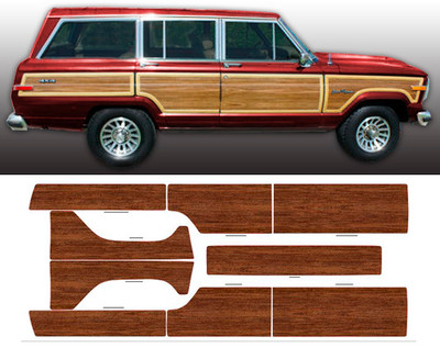 1981-1991 Jeep Grand Wagoneer Woodgrain Kit