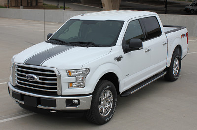 2009 2010 2011 2012 2013 2014 2015 2016 2017 Ford F-150 Center Vinyl Racing Stripes Graphic Kit