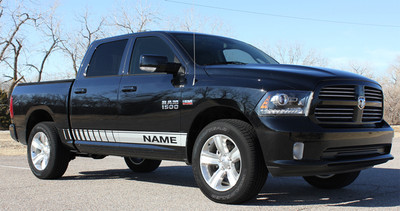 2009-2017 Dodge Ram Rocker Strobe Stripe Vinyl Graphic Kit