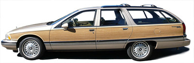 91-96 Buick Roadmaster Wagon Burma Teak Digital Reproduction Wood Grain Replacement Kit