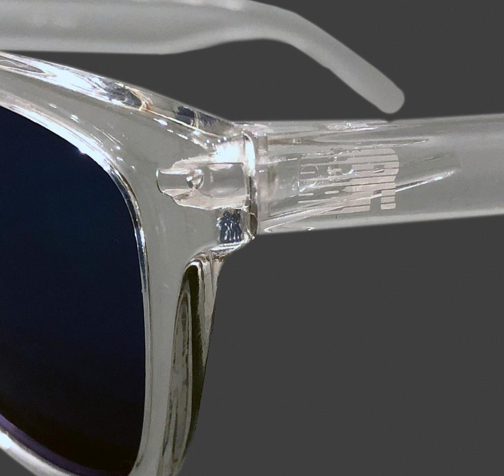 ESR Speed Line Sunglasses   Clear/Blue Iridium (UV400)   Pouch
