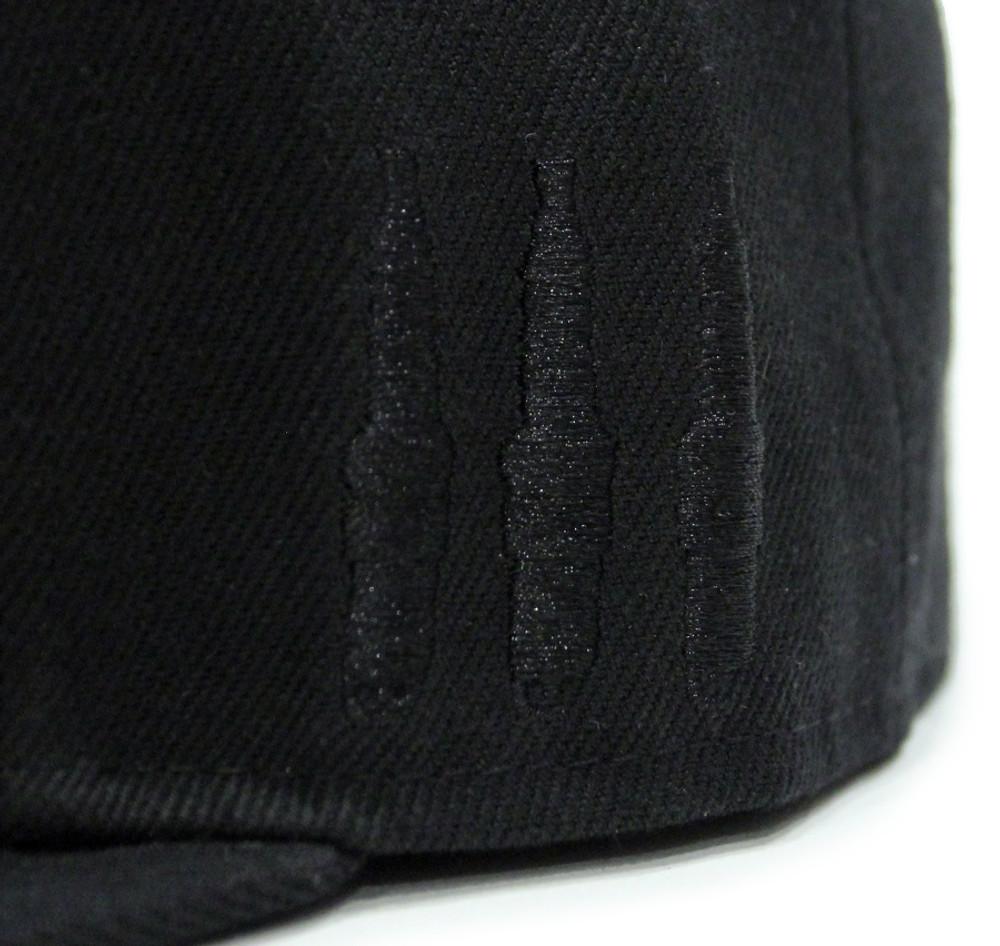 Logo Team Fitted Hat | Black-Red (OG)