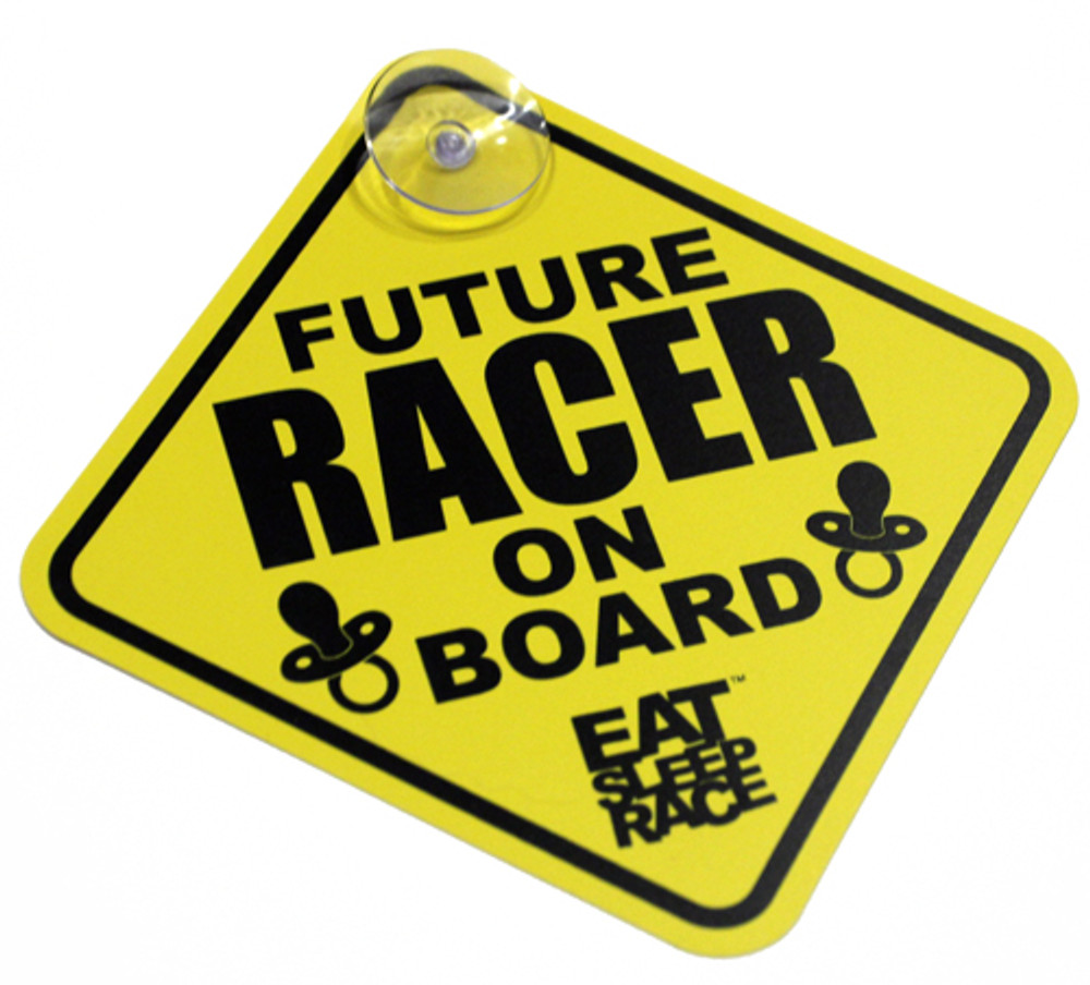 Future Racer on Board Car Sign | Yellow