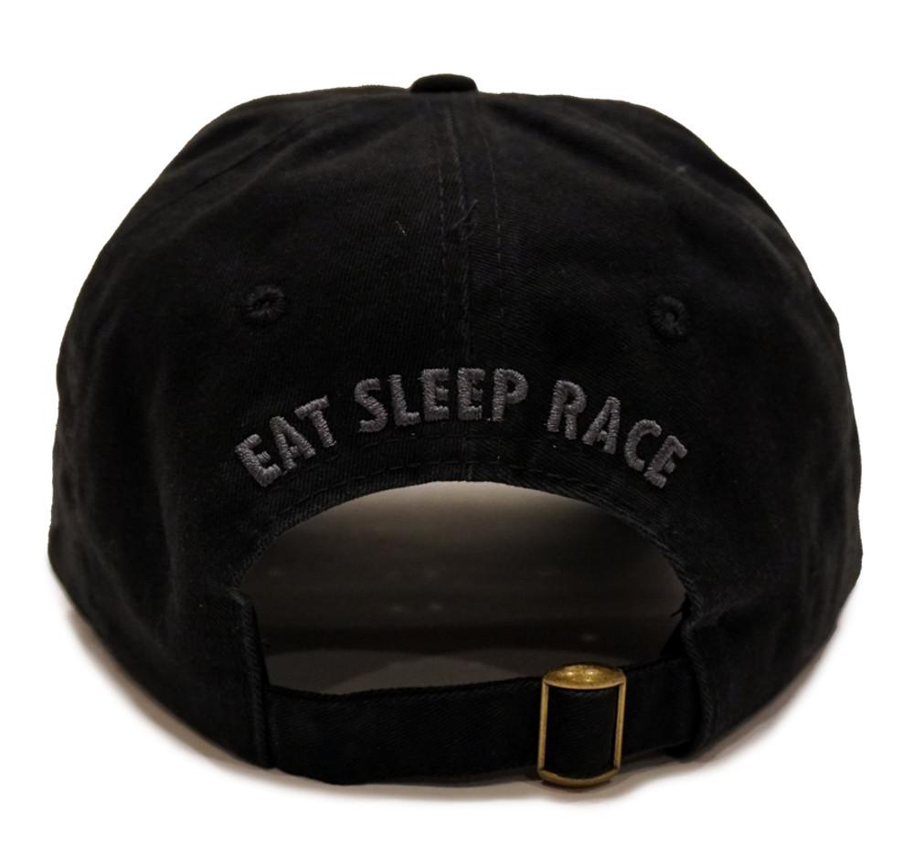 Script Sport Strapback Hat   Black/Red