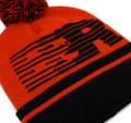 Speedlines Pom Beanie | Red/Black