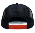 Logo Square Mesh Trucker Hat | Black/Red