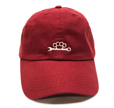 Knuckle Wrench Sport Strapback Hat   Cardinal Red