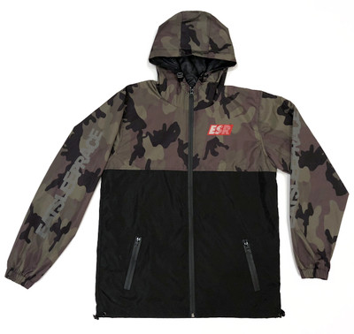 Grand Prix Windbreaker Jacket v2 | Camo/Black