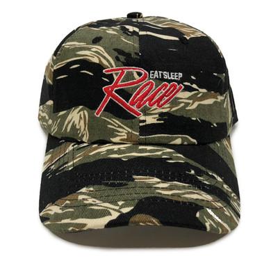 Script Sport Strapback Hat | Tiger Camo/Red