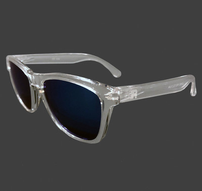 ESR Speed Line Sunglasses | Clear/Blue Iridium (UV400) | Pouch