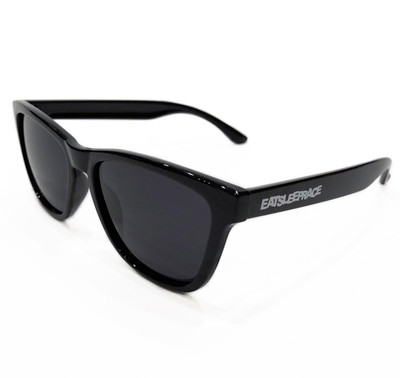 Logo Sunglasses | Gloss Black/Black (Polarized) | Hard Case