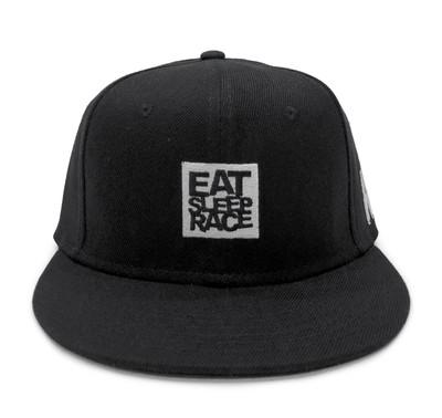 Logo Square Snapback Hat   Black/White