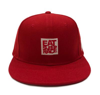 Logo Square Snapback Hat   Red/White