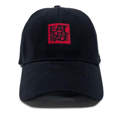 Logo Square Flexfit Hat   Black/Red