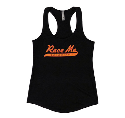 Ladies Race Me Tank Top | Black