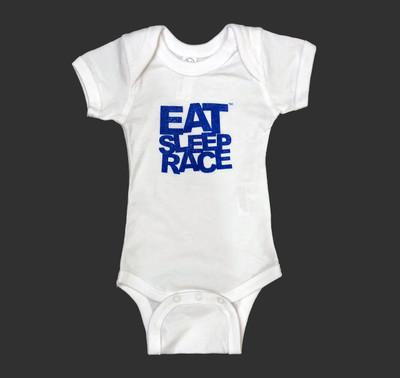 Infant One Piece Logo   White/Blue