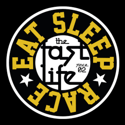 Fast Life Cap Sticker | Black/Gold