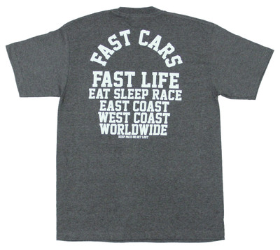 Fast Cars Pocket T-Shirt | Charcoal