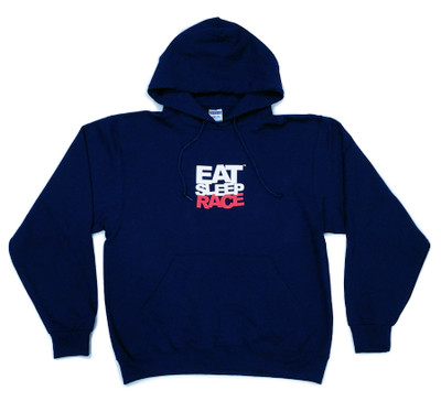 Pull Over Team Logo Hoodie | Navy/Red