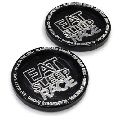 Billet Aluminum Coaster Set | Black