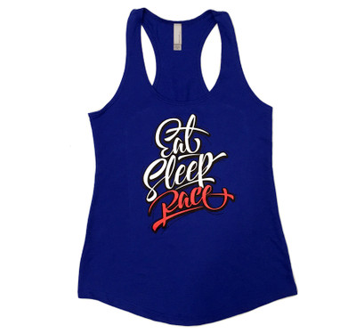 Ladies Script Tank Top | Blue