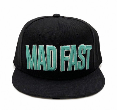 Mad Fast Snapback Hat | Black/Teal