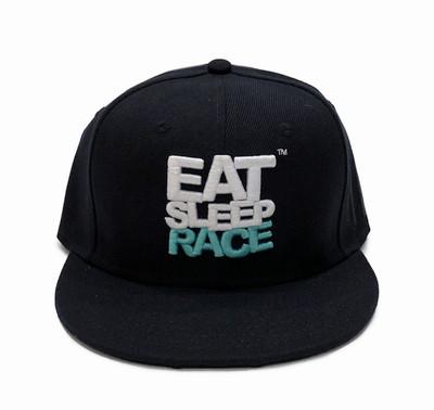 Logo Team Snapback Hat | Black/Teal