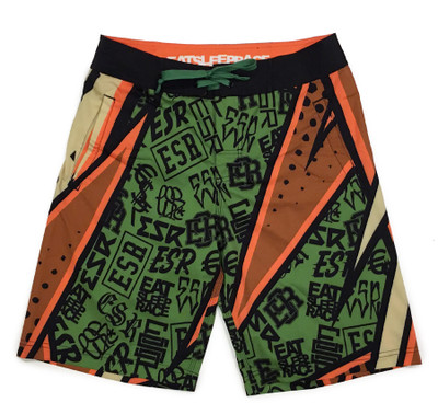 Board Shorts | ESR Rad Pattern Khaki