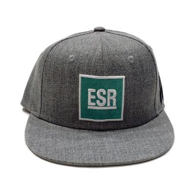 ESR Square Snapback Hat | Grey/Teal