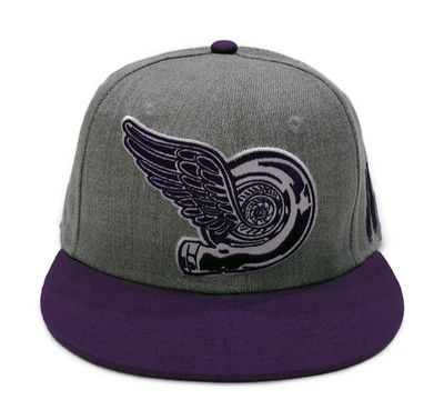 Turbo Wing Snapback Hat | Grey/Purple