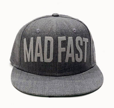 Mad Fast Snapback Hat | Grey/White