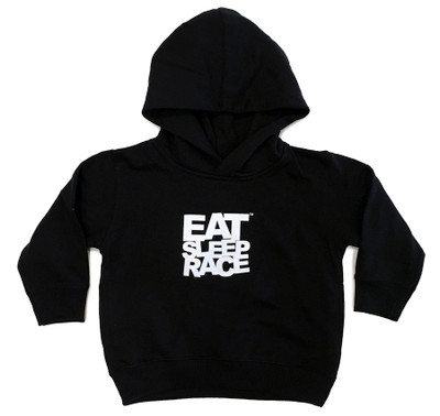 Toddler Logo Pull Over Hoodie | Black/White