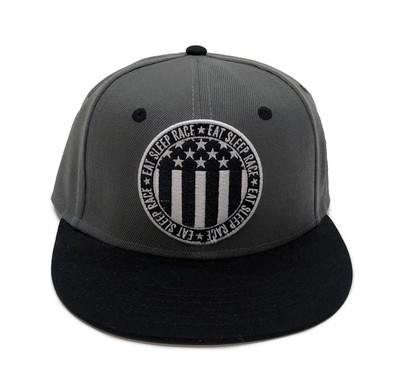 Circle Flag Snapback Hat | Grey/Black