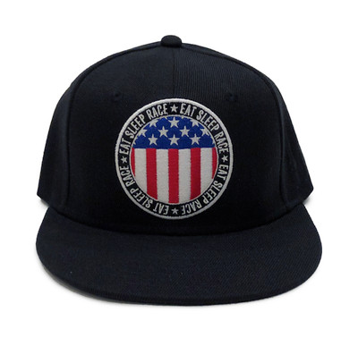 Circle Flag Snapback Hat | Black/RWB