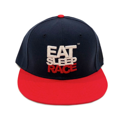 Logo Team Snapback Hat | Navy/Red